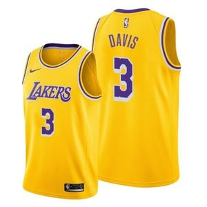 Los Angeles Lakers Anthony Davis Gold Jersey